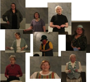 The evening's tellers: Anna, Diane, Jeff, Jenny, Lucille, Mary, Mary Ellen, Molly & Pat.